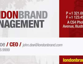#2 dla Business Card Design for London Brand Management przez aldodager