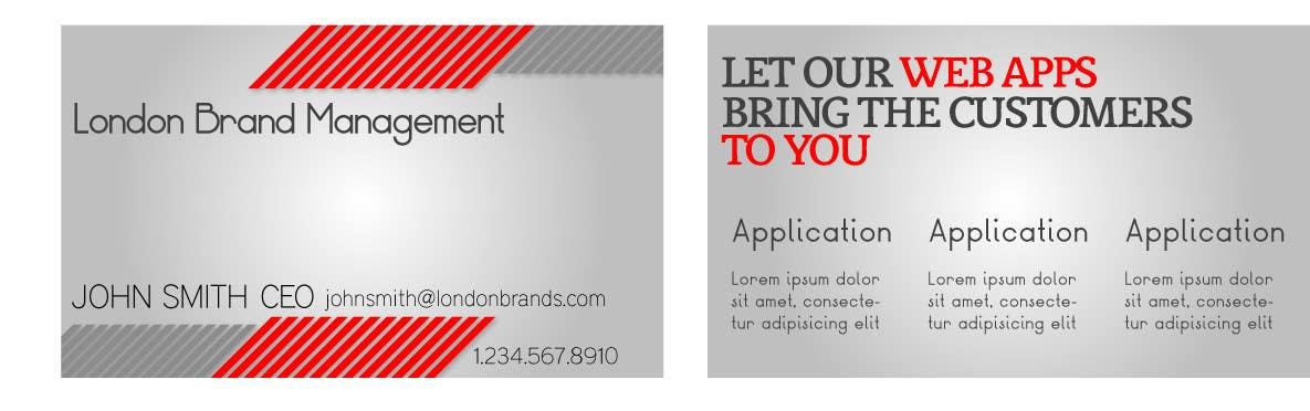 Penyertaan Peraduan #                                        38                                      untuk                                         Business Card Design for London Brand Management