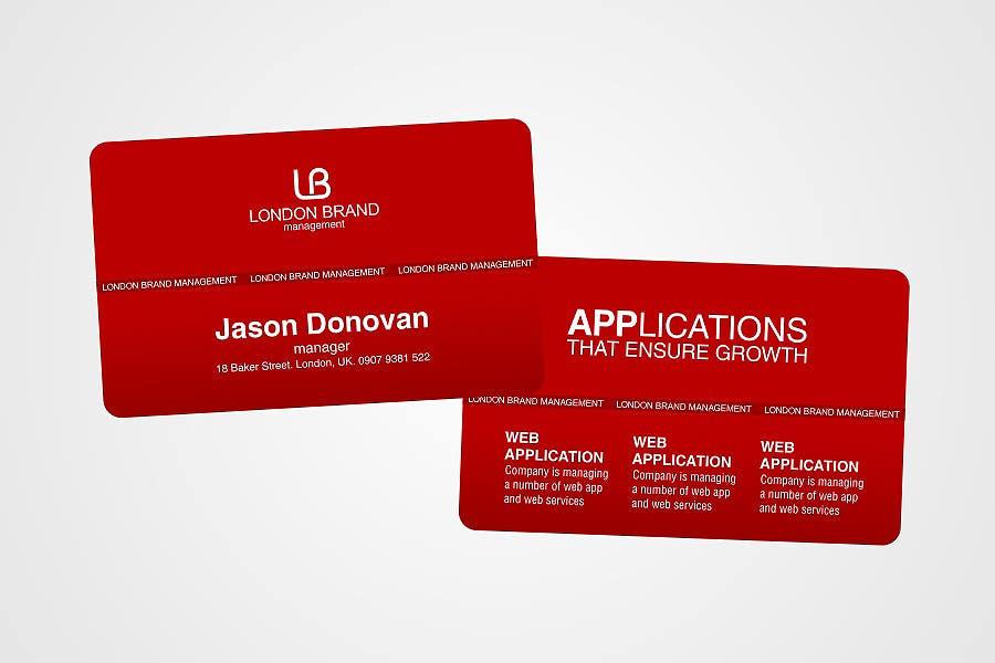 Penyertaan Peraduan #                                        46                                      untuk                                         Business Card Design for London Brand Management