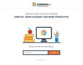 #55 for Design a simple landing page for citation.io af mostafahawary
