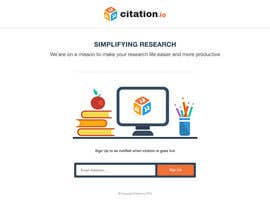 #58 para Design a simple landing page for citation.io por mostafahawary
