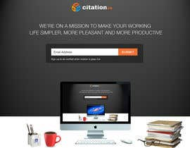 #39 para Design a simple landing page for citation.io por danangm