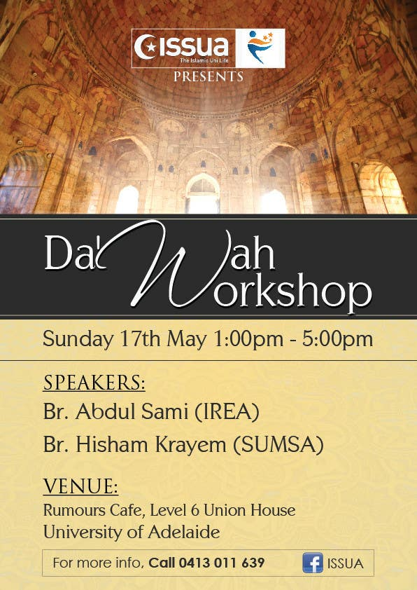 """Konkurrenceindlæg #35 for """"Da'wah Workshop"""" - Islamic Flyer"""