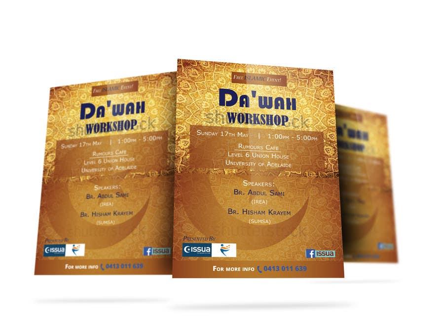 """Konkurrenceindlæg #34 for """"Da'wah Workshop"""" - Islamic Flyer"""