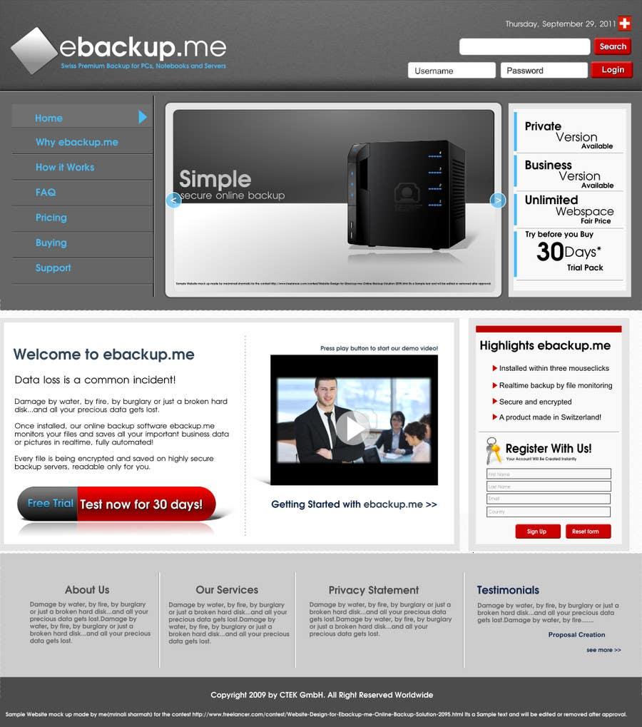 Конкурсная заявка №16 для Website Design for Ebackup.me Online Backup Solution