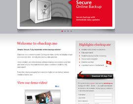 #85 pentru Website Design for Ebackup.me Online Backup Solution de către sunanda1956