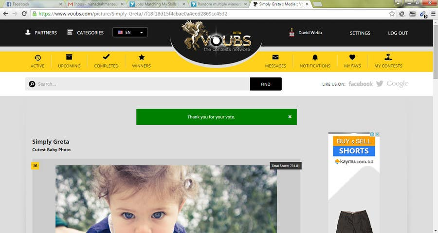 Penyertaan Peraduan #59 untuk Random multiple winners!!! -Vote for me and post a screenshot