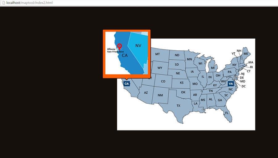 Konkurrenceindlæg #                                        6                                      for                                         Design a Website Map Of Locations For Website!