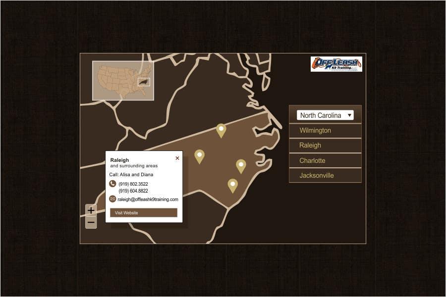 Konkurrenceindlæg #                                        4                                      for                                         Design a Website Map Of Locations For Website!