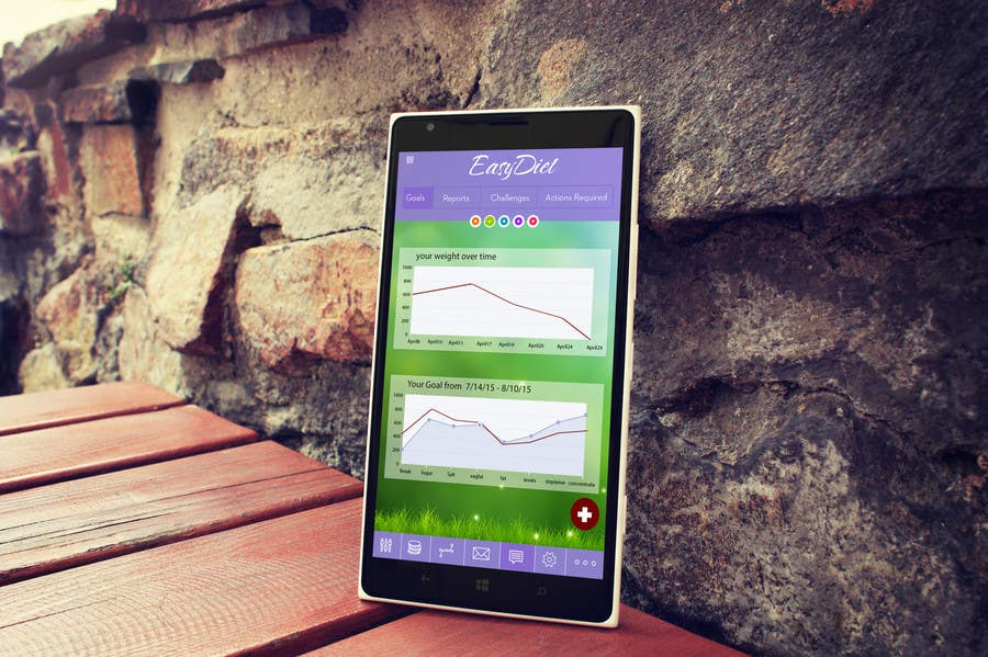 Konkurrenceindlæg #11 for Design an App Mockup for EasyDiet
