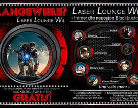 #32 para Design a Flyer for DVD Rental named LASER LOUNGE por xcerlow