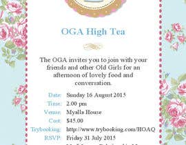 nº 5 pour High Tea Invitation par adripoveda