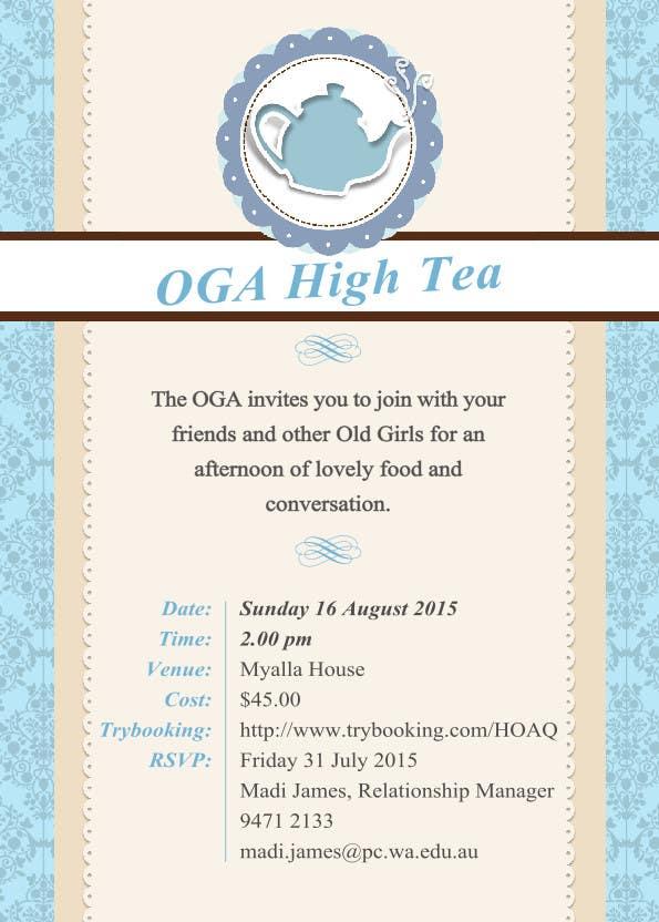 Kilpailutyö #13 kilpailussa High Tea Invitation