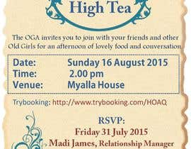 nº 21 pour High Tea Invitation par svaishya1