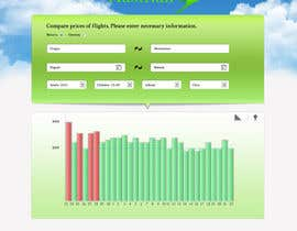 #5 para Design a Website Mockup for a Flight Price Analytics Page por helixnebula2010