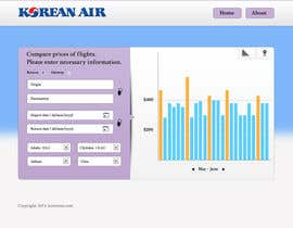 helixnebula2010 tarafından Design a Website Mockup for a Flight Price Analytics Page için no 22