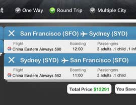 tamildio tarafından Design a Website Mockup for a Flight Price Analytics Page için no 20
