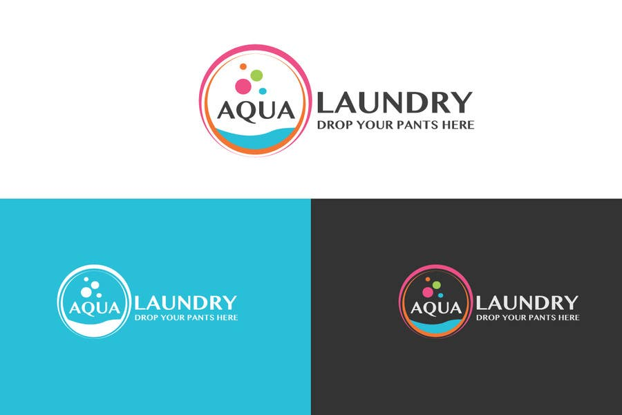 Konkurrenceindlæg #                                        14                                      for                                         Design a Logo for AQUA LAUNDRY & DRY CLEANING