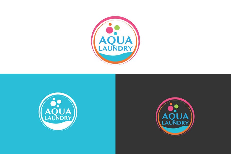 Konkurrenceindlæg #                                        22                                      for                                         Design a Logo for AQUA LAUNDRY & DRY CLEANING