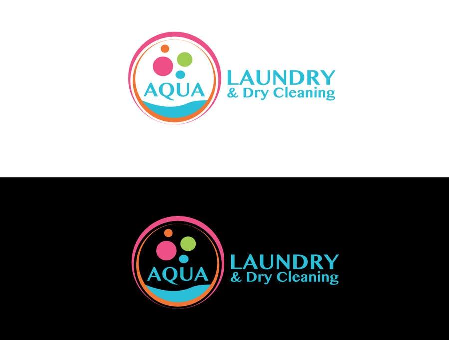 Konkurrenceindlæg #                                        32                                      for                                         Design a Logo for AQUA LAUNDRY & DRY CLEANING
