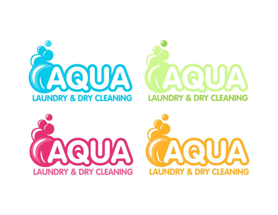 Konkurrenceindlæg #                                        18                                      for                                         Design a Logo for AQUA LAUNDRY & DRY CLEANING