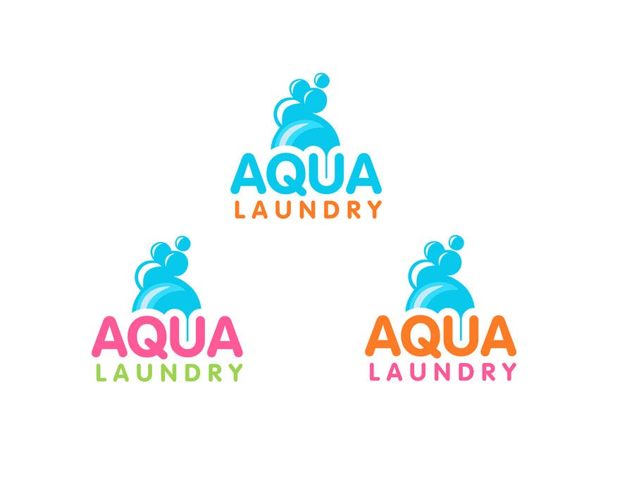 Konkurrenceindlæg #                                        19                                      for                                         Design a Logo for AQUA LAUNDRY & DRY CLEANING