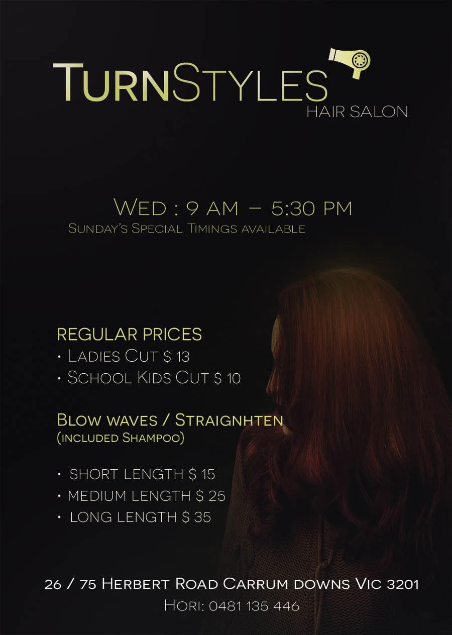 Konkurrenceindlæg #8 for Design a Flyer for Hair Salon