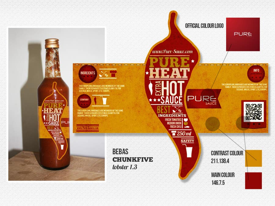 #127 for Graphic Design for Chilli Sauce label by Macario88