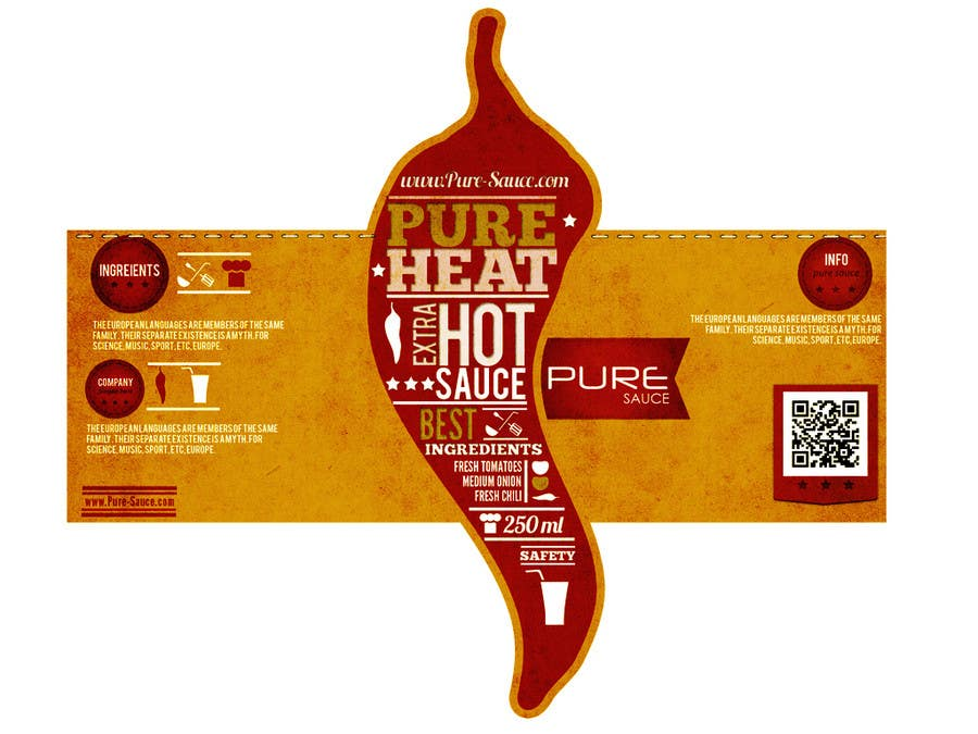 #115 for Graphic Design for Chilli Sauce label by Macario88