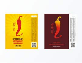 #90 Graphic Design for Chilli Sauce label részére brendlab által