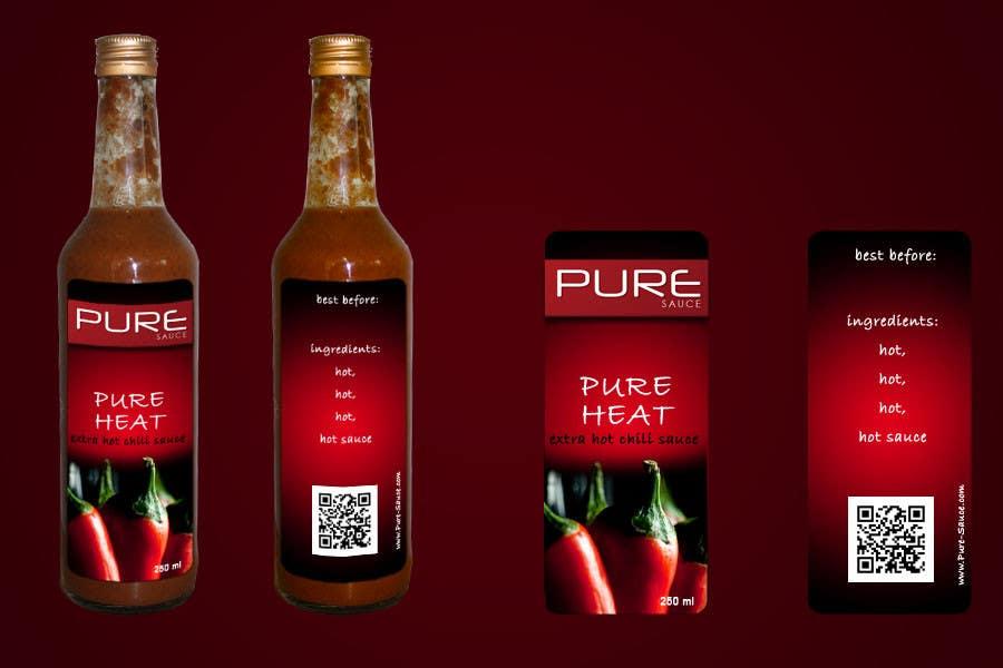 #88 for Graphic Design for Chilli Sauce label by jamesetallaz