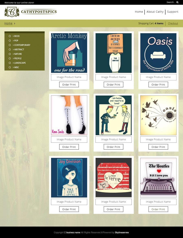Penyertaan Peraduan #38 untuk Cathy Posts Pics - Website Design