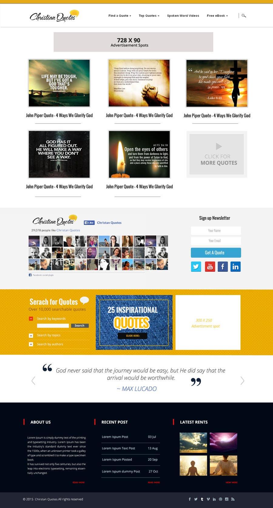 Penyertaan Peraduan #7 untuk Design the homepage of my website