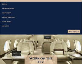 Nro 19 kilpailuun Design a Website Mockup for Private Jet company käyttäjältä BushaF