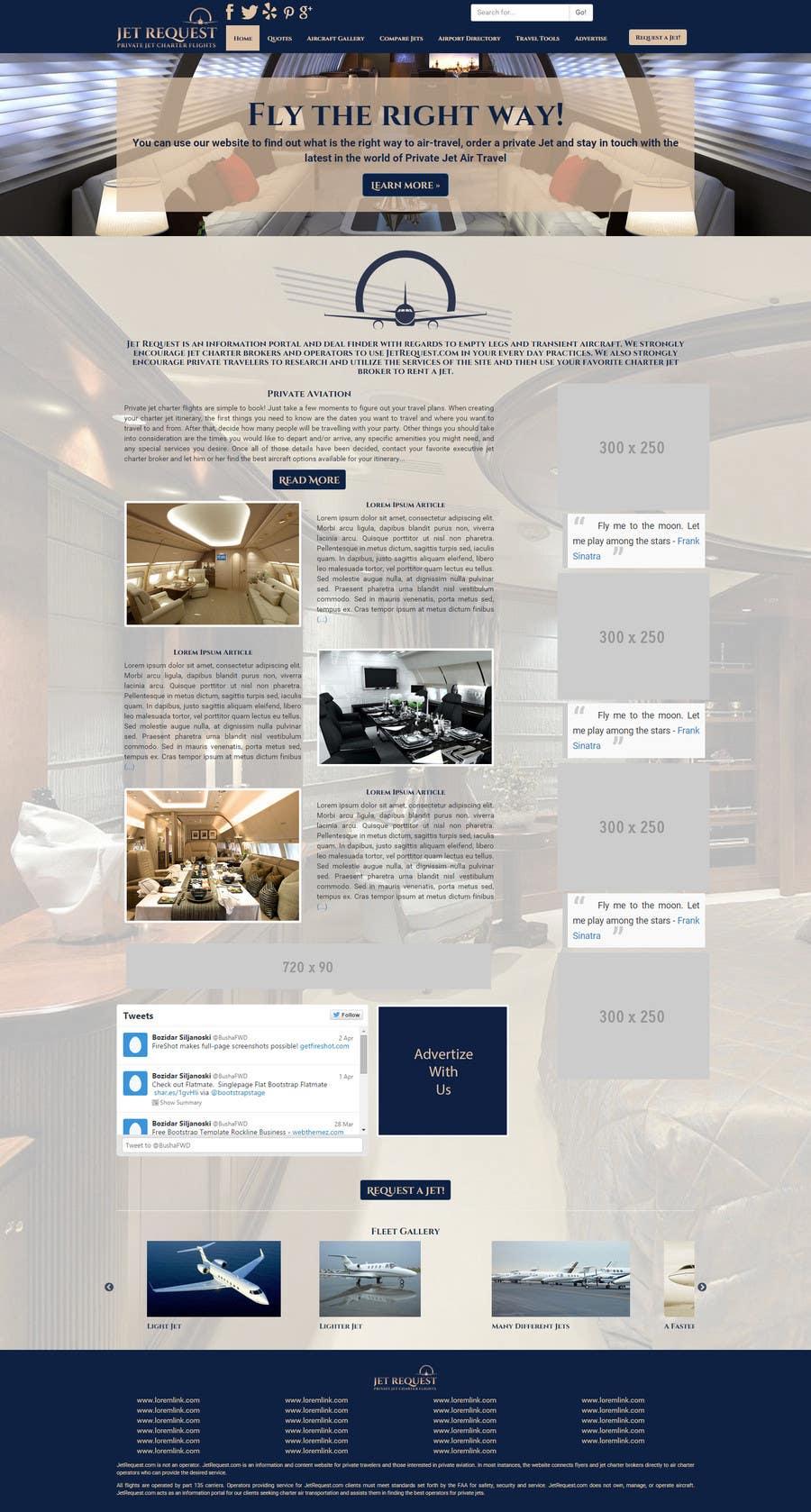 Konkurrenceindlæg #                                        24                                      for                                         Design a Website Mockup for Private Jet company