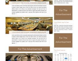 Nro 25 kilpailuun Design a Website Mockup for Private Jet company käyttäjältä ravinderss2014