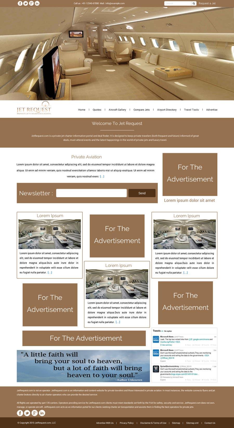 Konkurrenceindlæg #                                        26                                      for                                         Design a Website Mockup for Private Jet company