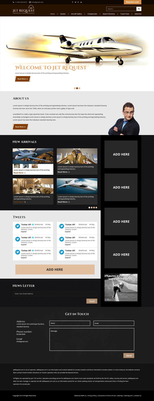 Konkurrenceindlæg #                                        4                                      for                                         Design a Website Mockup for Private Jet company