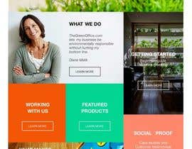 #40 untuk Design a Website Mockup for TheGreenOffice.com oleh vad1mich