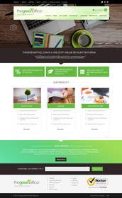 #10 untuk Design a Website Mockup for TheGreenOffice.com oleh kreativeminds