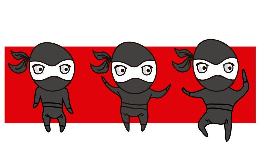 Bài tham dự cuộc thi #3 cho Design a logo / mascot character: adorable ninja!