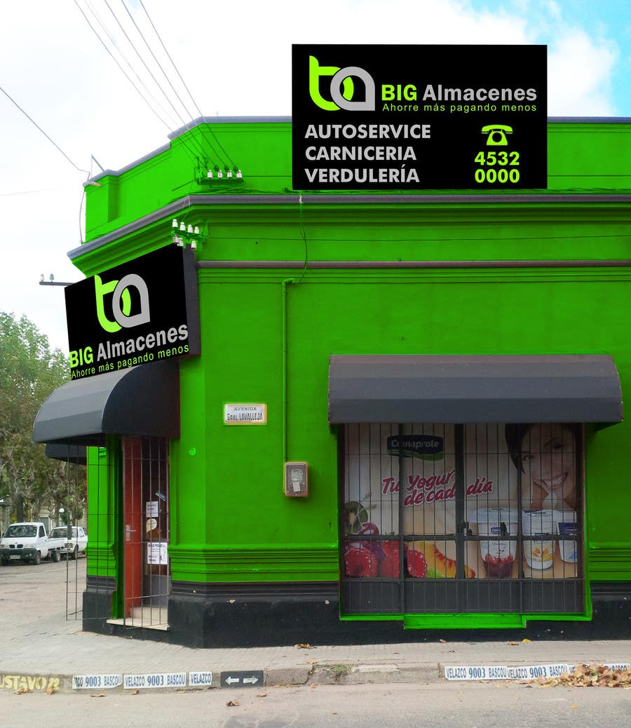 Konkurrenceindlæg #                                        14                                      for                                         Photomontage for a Supermarket