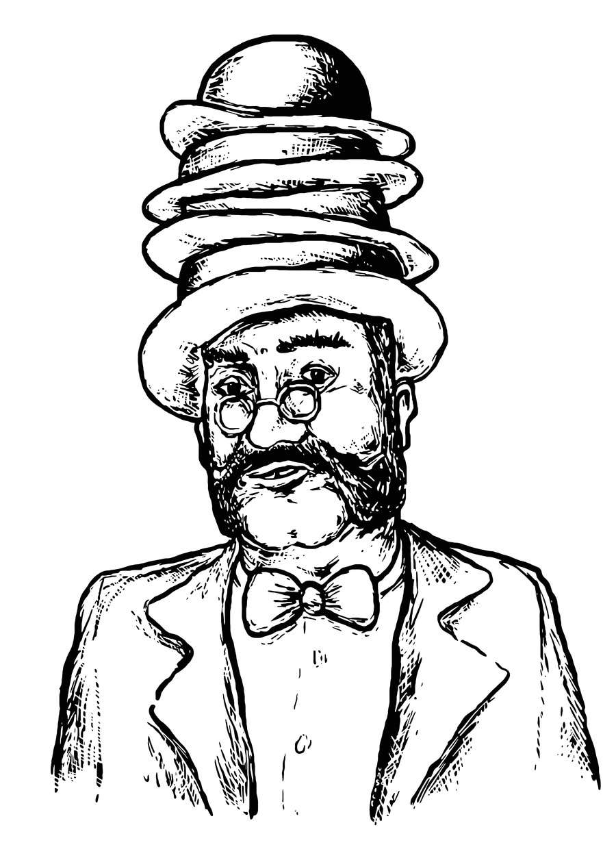 Konkurrenceindlæg #                                        8                                      for                                         Create a Portrait Drawing of a late 19th Century Man wearing Multiple Bowler Hats