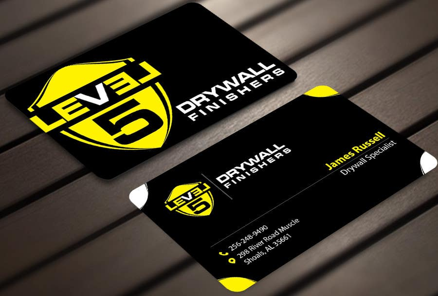 Entry #66 by sixthsensebd for Design some Business Cards for Drywall ...