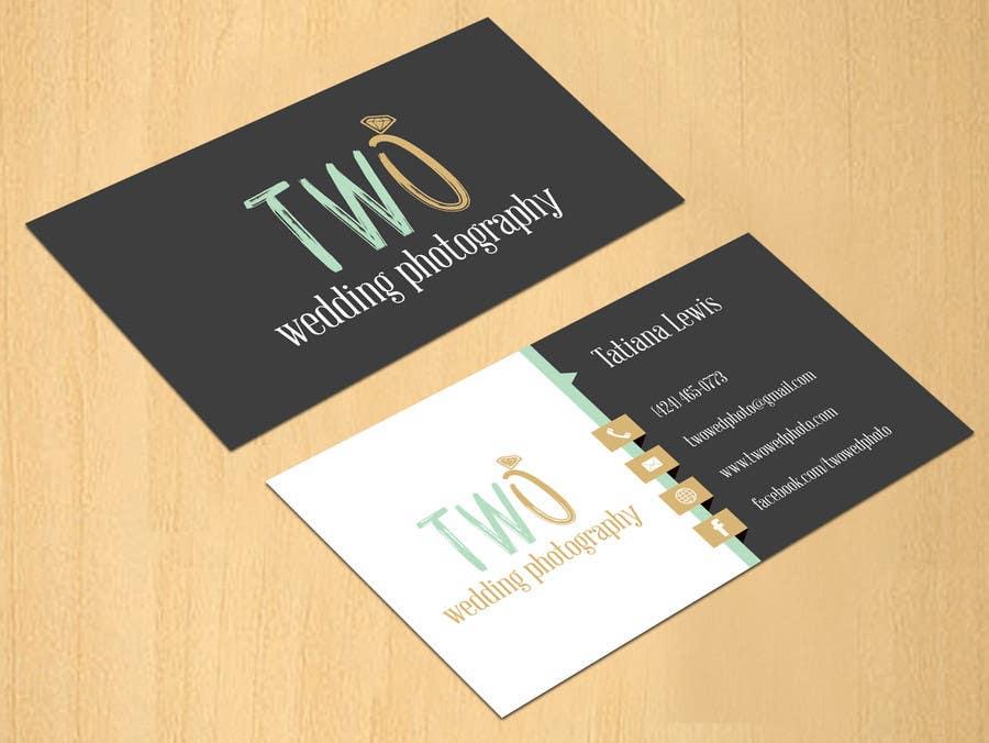 Konkurrenceindlæg #16 for Design some Business Cards for wedding photographers