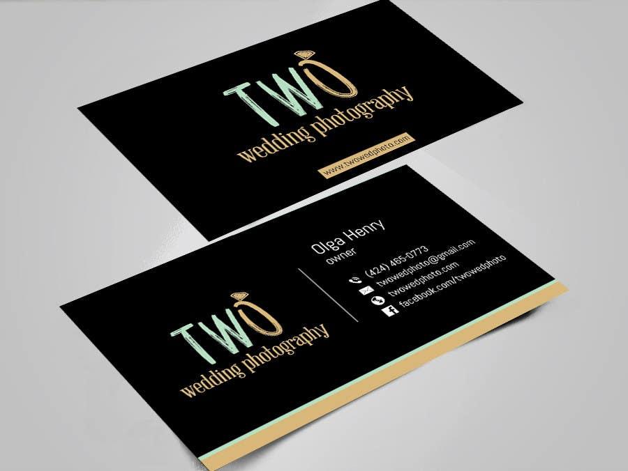Konkurrenceindlæg #31 for Design some Business Cards for wedding photographers