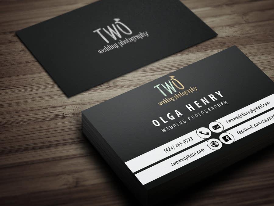 Konkurrenceindlæg #44 for Design some Business Cards for wedding photographers