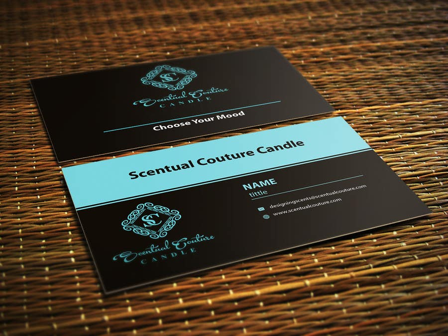 Konkurrenceindlæg #                                        28                                      for                                         Create business card for Scentual Couture Candle