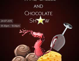 Fazy211995 tarafından Design a Flyer for wine,cheese and chocolate show için no 3