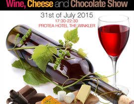 #21 for Design a Flyer for wine,cheese and chocolate show af silvi86